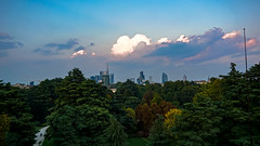 Triennale di Milano (DiSorDerINaMirrOR) Tags: italy italien milano milan mailand lombardia sky clouds autumn sunset afternoon trees cityscape skyscrapers garibaldi gaeaulenti sony sonyalpha sony600 sempione