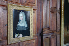 Lady Margaret Beaufort, Countess of Richmond (Can Pac Swire) Tags: england britain great uk british english unitedkingdon hertfordshire hatfield house palace manor stately home al9 jacobean history 2016aimg1648 oil painting portrait wood panel panelling