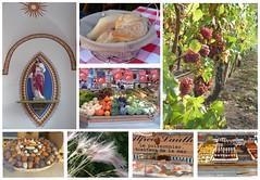 Erntedank-harvest festival (Anke knipst) Tags: frankreich elsass alsace erntedank collage harvestfestival rebe trauben brot bread grapevine fisch fish jesus