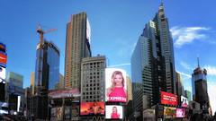 NY Manhattan VII (stega60) Tags: newyork manhattan skyline sky blue timessquare city skygrabber screens buildings street hdr stiched panorama stega60