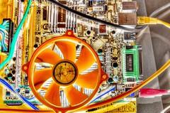 HOT (mmalinov116) Tags: hot motherboard fan ventilator orange technic technology engineering pc computer