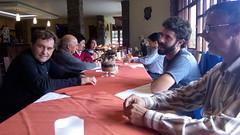 Comida de despedida de Joseba Segura con trabajadores del hospital andino