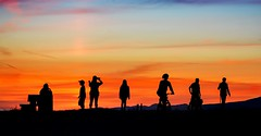 Admiration of colour & light (Christie : Colour & Light Collection) Tags: silhouettes seven people sunset gazers independent light colour sundown sky clouds peaceful romancing bc canada
