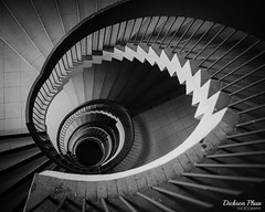 The descent into obscurity (gunman47) Tags: 2017 asia asian august b bw complex east golden mile mono monochrome obs projector sg sepia singapore south tower w black descent obscurity spiral staircase stairs white