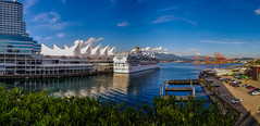 Island Princess (Martin Smith - Having the Time of my Life) Tags: islandprincess vancouver waterfront canadaplace vancouverconventioncentre martinsmith ©martinsmith samsungs8 princesscruise cruiseship britishcolumbia canada ca pano panorama