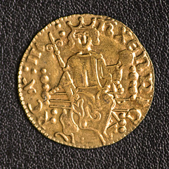 Henry III Gold Penny 1216-1272 (Westair Reproductions) (Phil Bagnall) Tags: england english 13thcentury gold penny 1d money coin latin sceptre shield