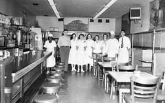 Gaither's Grill - Manager and Staff 1951 (Brett Streutker) Tags: restaurant cafe diner eatery food hamburger cheeseburger eat fast macdonalds burger vintage colonel sanders kentucky fried chicken big mac boy french fries pizza ice cream server tip money cash out dining cafeteria court table coffee tea serving steak shake malt pork fresh served desert pie cake spoon fork plate cup drive through car stand hot dog mustard ketchup mayo bun bread counter soda jerk owner dine carry deliver 1951