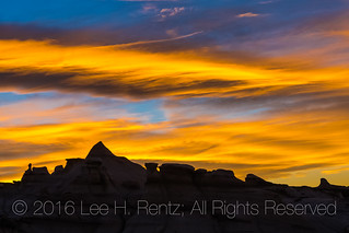 Bright and Beautiful Sunset over the Bisti Badlands