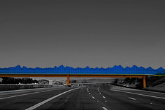 Arizona Highway (oybay©) Tags: bridge pedestrianbridge phoenix arizona highway51 greenwayexit greenwayroad greenway bluesky freewayclose mesh fence opticalillusion laurie lundquist mountain pass pedestrian piestewa peak squaw whipitout platinumphoto anawesomeshot nohdr architecture outdoor building structure infrastructure