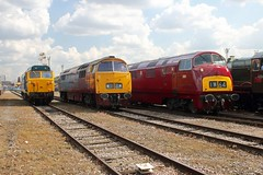 D821 Old Oak Common 2nd September 2017  E1880 (focus- transport) Tags: trains old oak common open day classes 31 47 50 57 180 800 d british railways br oliver cromwell tornado colas gbfr gbrf gwr hst rail operations group railcar diesel steam great western railway high speed train gb freight