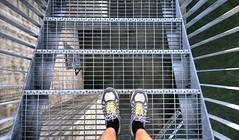 Horisontti (timo_w2s) Tags: vuosaari harbour helsinki finland summer evening baltic sea meluseinä noisebarrier horisontti shoes trainers feet steel steps