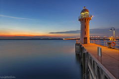 SENTINEL (ChieFer Teodoro) Tags: canon 1635mm 6d gitzo arca swiss lee filter graduated neutral density long exposure seascape nightscape landscape lighthouse marina raffles tuas link blue hour singapore
