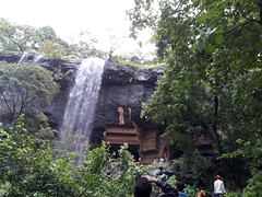 Caves and waterfall