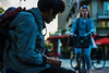 roll a cigarette (human_wildlife) Tags: roll ciagette foreign used broken poor broke watching women normal life bike rotterdam netherlands sony a6000 minolta great photo greatphoto