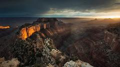 Wotan's Throne (David Colombo Photography) Tags: arizona grandcanyon northrim sunset wotonsthrone canyon clouds river landscape nikon d800 davidcolombo davidcolombophotography outdoor dramatic moody