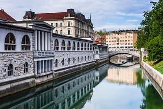 Ljubljana Market Riverside