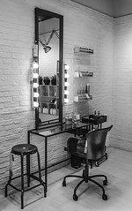 Dressing table (pelpis) Tags: blackandwhite bw scenary places scene mirror chair dressingtable details cool style urbanstyle ikea