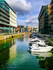 Oslo's Venice (evakongshavn) Tags: oslo akerbrygge visitoslo norge light water waterscape yacht boat fjords fjordsofnorway serenity scenic oslofjord venice venezia reflection reflections waterreflection