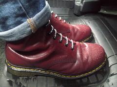 Wet (d.murphy) Tags: docmartens boots rain