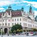 University of Ljubljana Building in the Congress Square, Ljubljana, Slovenia