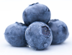 Staying Healthy (haberlea) Tags: home blueberries food plant fruit blue onwhite white macromondays hmm macro