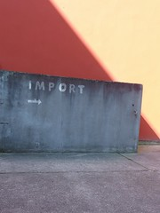 Import (mkorsakov) Tags: dortmund nordstadt hafen typo retro vintage import minimal schatten shadow grau grey rot red gelb yellow
