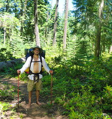 Barefoot Bill - Thru Hiker - Pacific Crest Trail (ex_magician) Tags: thruhiker 2017 pct klamathfalls oregon moik photo photos picture pictures image lightroom adobe adobelightroom interesting deadindianroad lakeofthewoods winemanationalforest fishlake brownmountain lavaflow pacificcresttrail brownmountaintrail