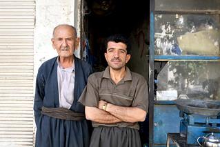 Shop owners in Sulaymaniyah / Iraqi Kurdistan