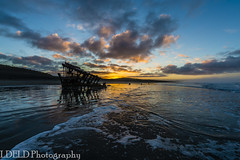 lt-080-SS1601230_62867 (LDELD) Tags: peter iredale fort stevens graveyard pacific sunrise ocean beach shipwreck clouds sand waves reflections morning dawn clatsop oregon sea water sky