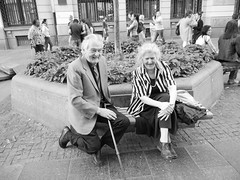 Old couple talking about the old days, Belgrade Center!