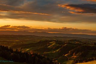 Sunset Lüderenalp