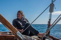 Serious and relaxed on Croix des Gardes (Matchman Devon) Tags: classic channel regatta 2017 paimpol croix des gardes