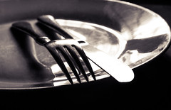 Plate with a Knife and fork on top (Jamal Benamer) Tags: background breakfast ceramics clean cutlery dining dinner dish eat empty food fork isolated kitchen knife lunch meal menu plate porcelain restaurant service set setting shiny silver silverware table top utensil view white 450d 1855mm canon conceptual