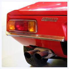 De Tomaso Pantera (Esteban 86360) Tags: de tomaso pantera voiture car red rouge carroserie italienne musée auto châtellerault france poitou vienne automobile collection feu arrière sportive sport back