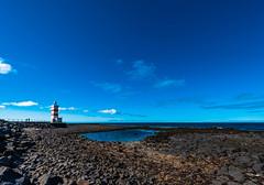 Garðaskagaviti at low tide (Þorkell) Tags: garðskagi lighthouse garður beach garðskagaviti viti steinar sjór nikkorafs1635mmf4gedvr nikond750 sea rocks