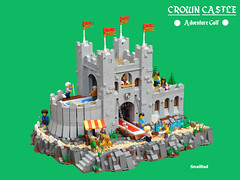 Crown Castle Adventure Golf (snaillad) Tags: lego moc golf sport town city adventure mini putting green minifig