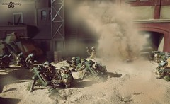 Mole Mortar Battery (torq42) Tags: warhammer 40k gw gamesworkshop wargame tabletop 28mm desert war battle scifi imperialguard squats stunties dwarves
