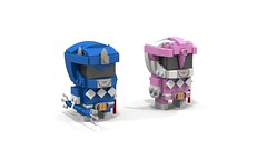 Brickheadz Mighty Morphin Power Rangers Pair 2 (lewissmith1) Tags: brickheadz lego powerrangers power rangers mighty morphin mmpr saban 90s billy cranston kimberly blue pink