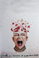 You're a victim of your own mind (Silje Roos) Tags: art acrylics arte arts acrylic acrylicpainting acryl acrylicpaint artist victim mind love beaty scream screaming woman girl luxury painting photography photo photos portrait picture people pretty pale pink pastel pro photograph