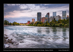 Evening along the Bow River with downtown skyline and Centre Street Bridge, Calgary Alberta [EXPLORED] (kgogrady) Tags: landscape summer calgary alberta canada clouds 2017 canadianskyline buildings calgaryphotos cityscape evening fujifilmxt2 cans2s flowingwater albertalandscapes bridge fujinon calgarypictures city ab bowriver fujifilm canadiancity xt2 skylinepictures westerncanada trees xf18135mmf3556oiswr yyc skylinephotos skyscrapers moonrise moon