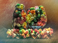 Sweet Stache (clarkcg photography) Tags: color candy glass light colorful confectionery tuesdaycrazytheme 7dwf