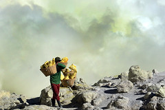INDONESIA (BoazImages) Tags: indonesia java geology ijen volcano sulphur miner sulfurminer boazimages southeastasia volcanology documentary labor