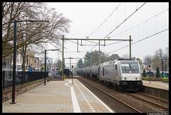 Rheincargo DE 803, Naarden-Bussum 01-04-2017 (Henk Zwoferink) Tags: bussum noordholland nederland nl henk zwoferink amsterdam nwb wlc irp independent rail partner rheincargo de bombardier dieseltraxx traxx 803 mev