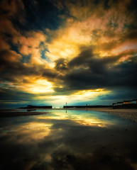 Foundations of the Day   [Explored] (RonnieLMills) Tags: donaghadee lighthouse harbour wide angle big cloudy sky sunrise low tide foundations slidersunday hss explore explored 28817 13