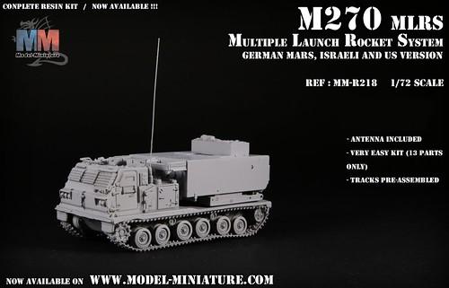 1//72 M270 multiple launch rocket MLRS modèle US Army Artillerie lanceur Tank