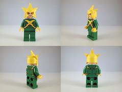 Electro (Alien Hand) Tags: lego marvel electro spiderman pad print custom funny bricks