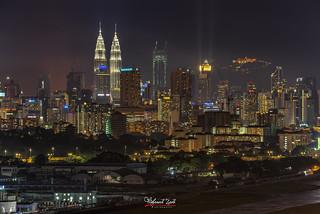Kuala Lumpur Skyline After The Rain