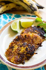 Garlic Lime Chicken (alaridesign) Tags: garlic lime chicken plantain fritters