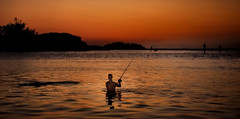 The Fearless Fisherman (JDS Fine Art Photography) Tags: fishing fisherman senset twilight outdoorsports outdoorsman nature naturesbeauty inspirational brave