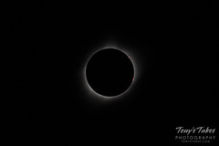 The solar eclipse at totality